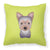 Buy this Checkerboard Lime Green Yorkie Puppy Canvas Fabric Decorative Pillow