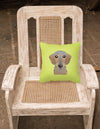 Checkerboard Lime Green Wirehaired Dachshund Canvas Fabric Decorative Pillow BB1295PW1414 - the-store.com