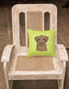 Checkerboard Lime Green Chocolate Labrador Canvas Fabric Decorative Pillow BB1296PW1414 - the-store.com