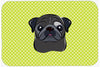 Checkerboard Lime Green Black Pug Mouse Pad, Hot Pad or Trivet BB1325MP by Caroline's Treasures