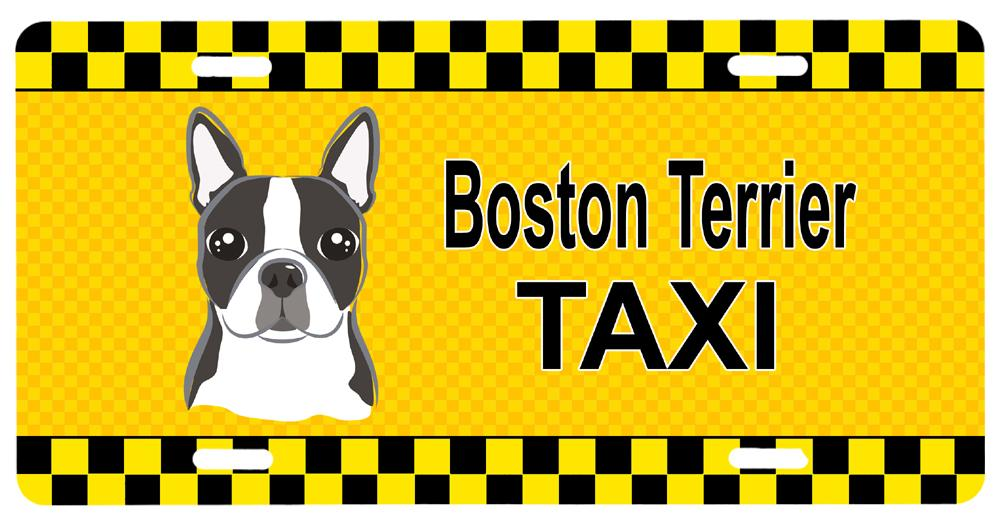 Boston Terrier Taxi License Plate BB1327LP by Caroline's Treasures