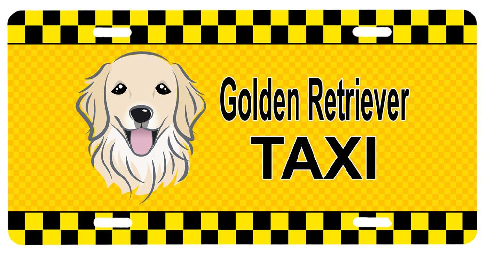 Buy this Golden Retriever Taxi License Plate BB1329LP