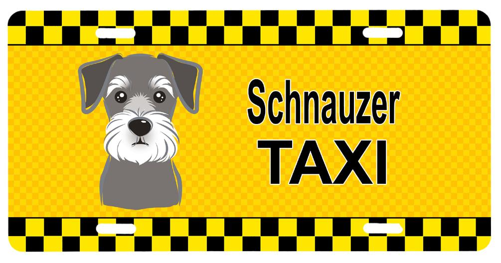 Schnauzer Taxi License Plate BB1330LP by Caroline's Treasures