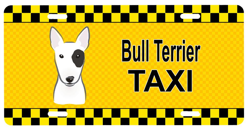 Bull Terrier Taxi License Plate BB1333LP by Caroline's Treasures