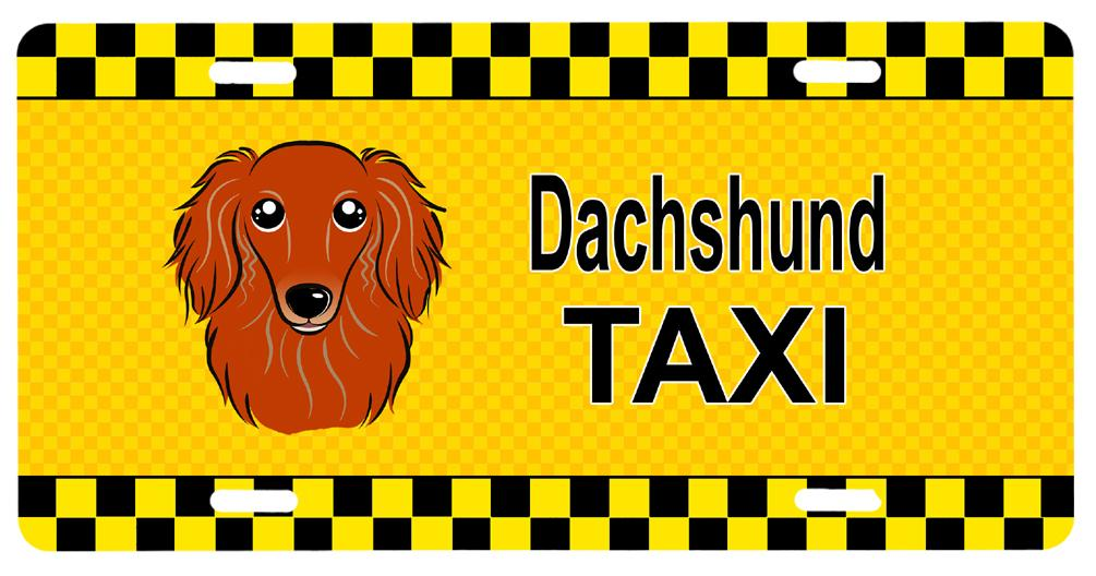 Longhair Red Dachshund Taxi License Plate BB1338LP by Caroline's Treasures