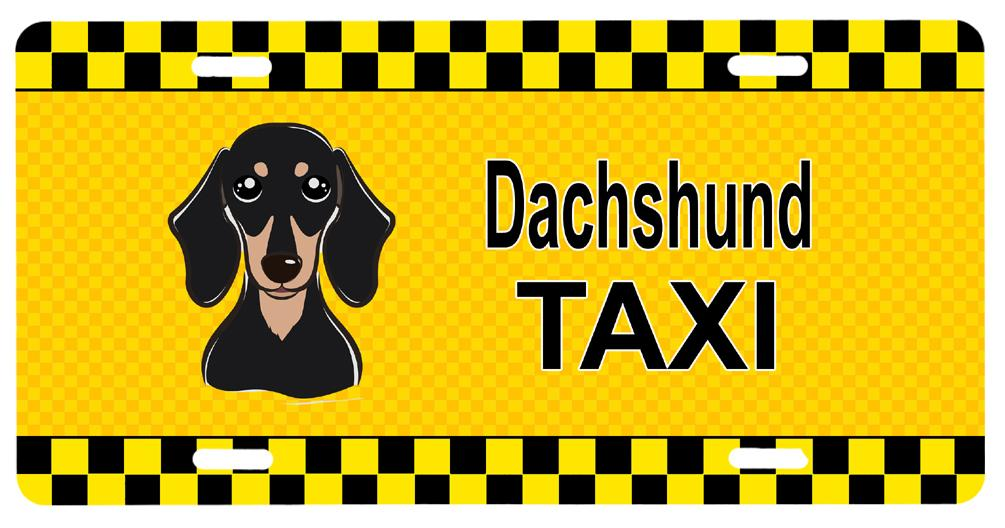 Buy this Smooth Black and Tan Dachshund Taxi License Plate BB1339LP