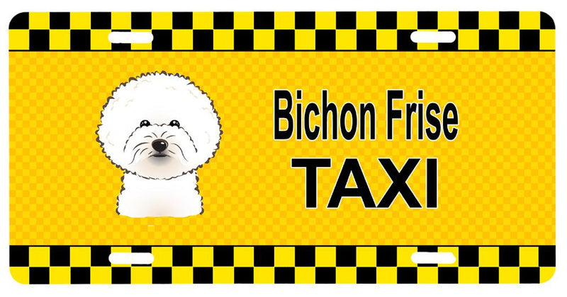 Buy this Bichon Frise Taxi License Plate BB1341LP