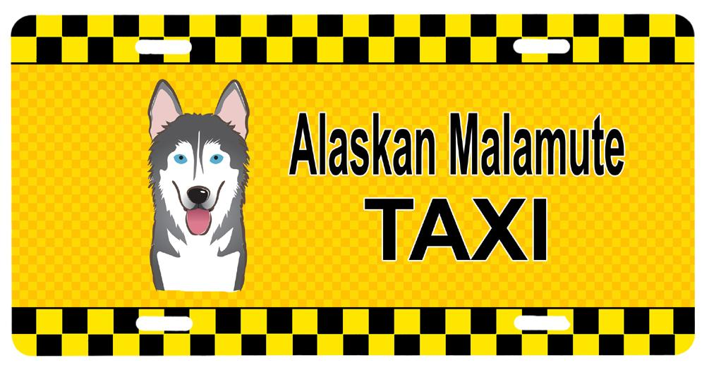Alaskan Malamute Taxi License Plate BB1342LP by Caroline's Treasures