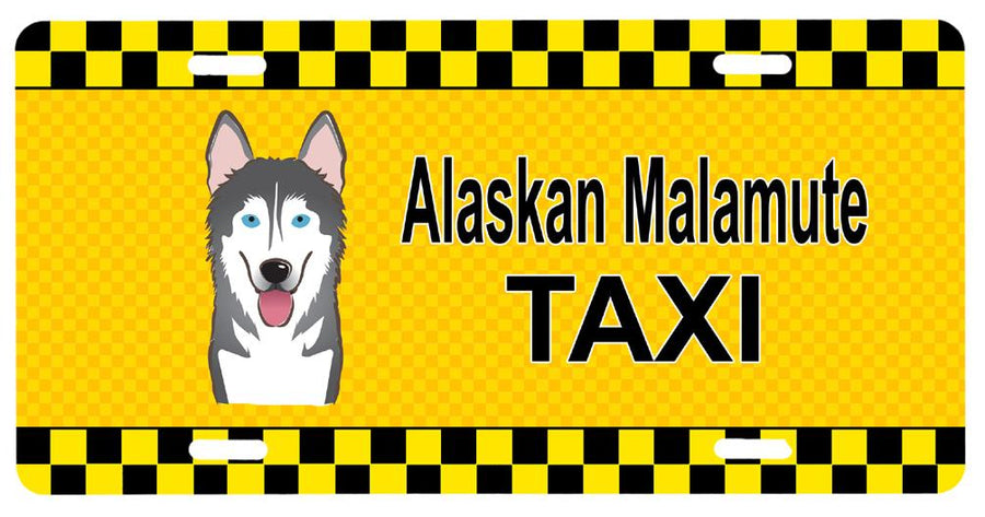 Buy this Alaskan Malamute Taxi License Plate BB1342LP