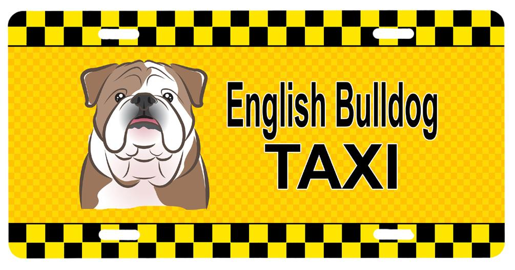 Buy this English Bulldog Taxi License Plate BB1343LP