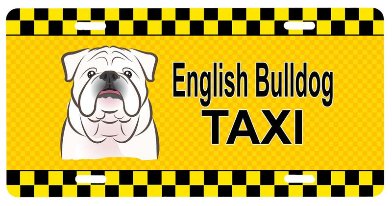 Buy this White English Bulldog  Taxi License Plate BB1344LP