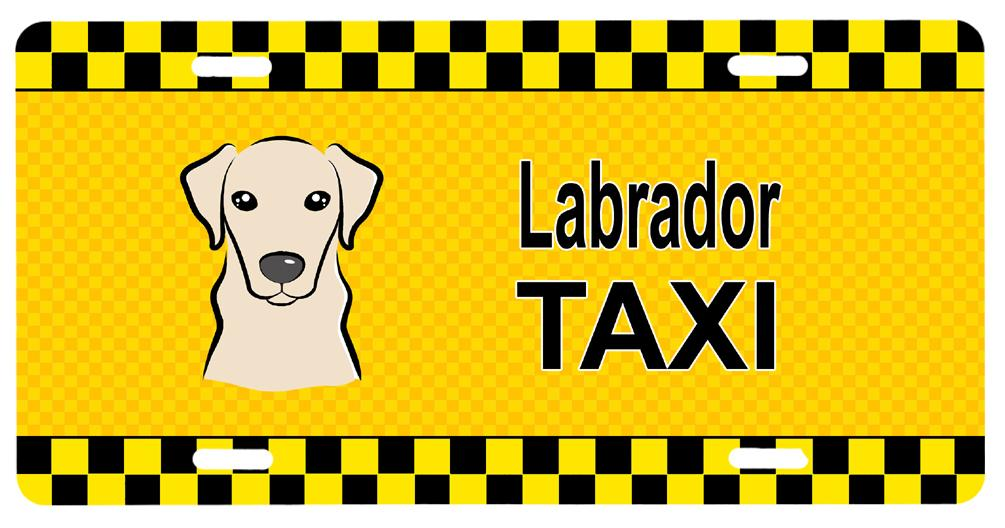 Yellow Labrador Taxi License Plate BB1346LP by Caroline's Treasures
