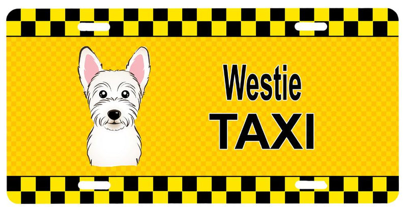 Buy this Westie Taxi License Plate BB1350LP