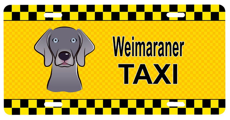 Buy this Weimaraner Taxi License Plate BB1355LP