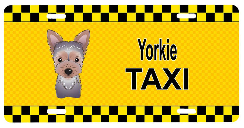 Buy this Yorkie Puppy Taxi License Plate BB1356LP