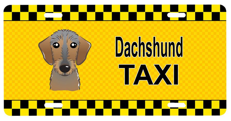 Buy this Wirehaired Dachshund Taxi License Plate BB1357LP