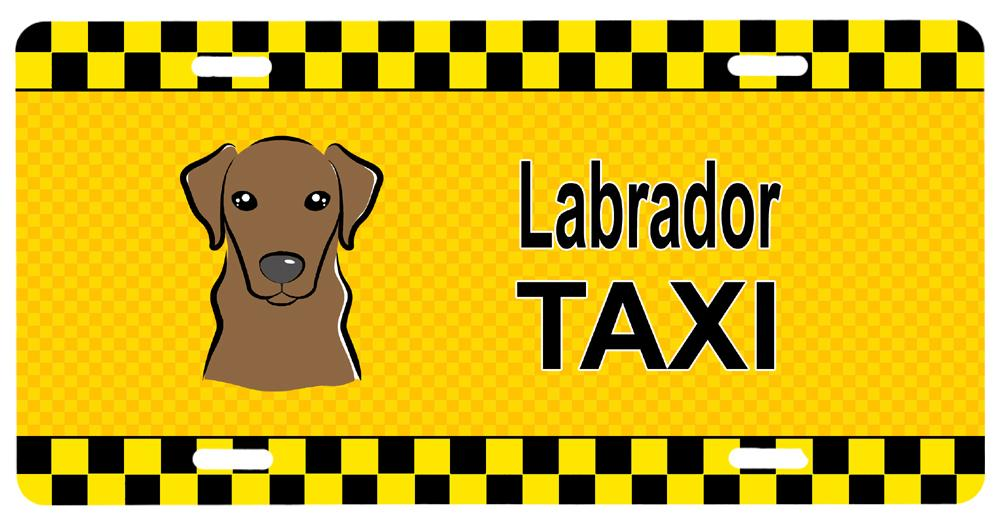 Chocolate Labrador Taxi License Plate BB1358LP by Caroline's Treasures