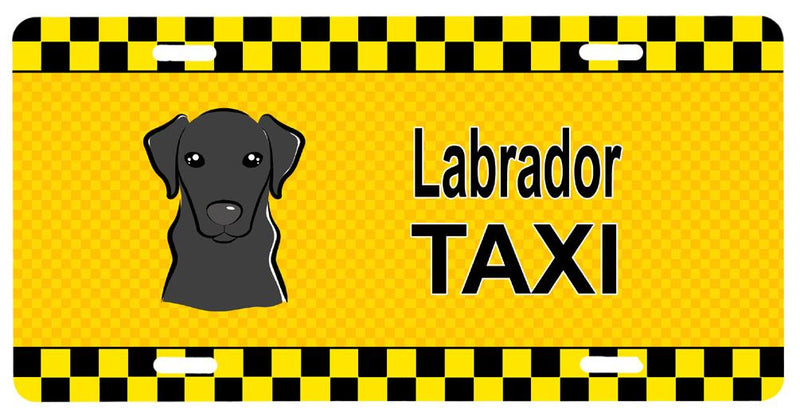 Buy this Black Labrador Taxi License Plate BB1359LP