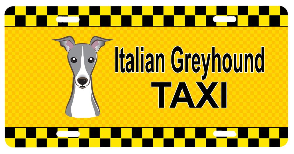 Italian Greyhound Taxi License Plate BB1360LP by Caroline's Treasures