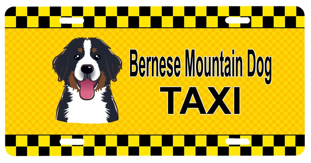 Buy this Bernese Mountain Dog Taxi License Plate BB1361LP