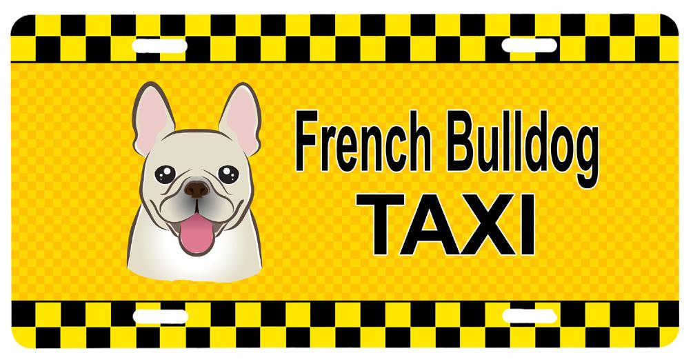 Buy this French Bulldog Taxi License Plate BB1362LP