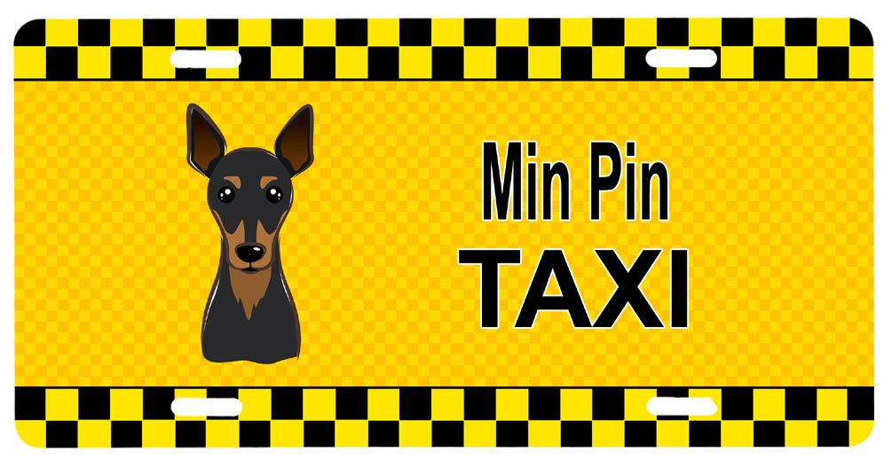 Buy this Min Pin Taxi License Plate BB1364LP