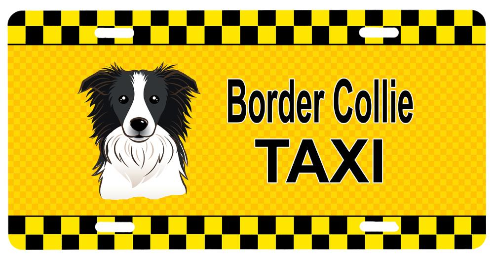 Buy this Border Collie Taxi License Plate BB1365LP