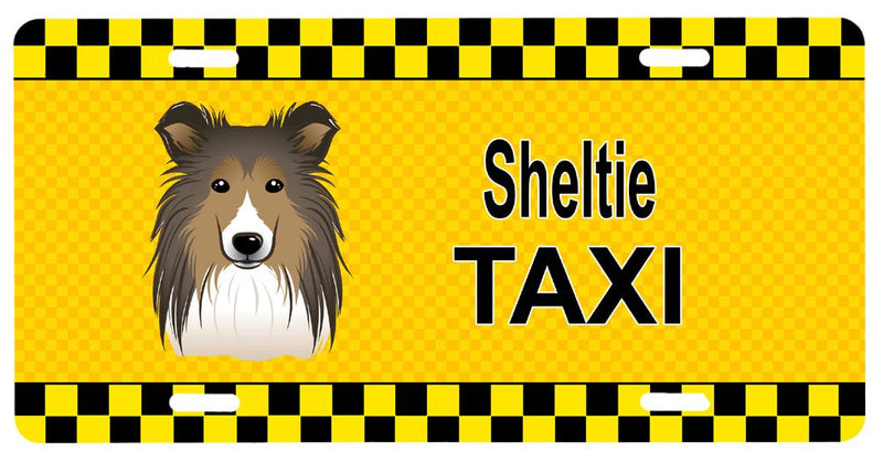 Buy this Sheltie Taxi License Plate BB1366LP