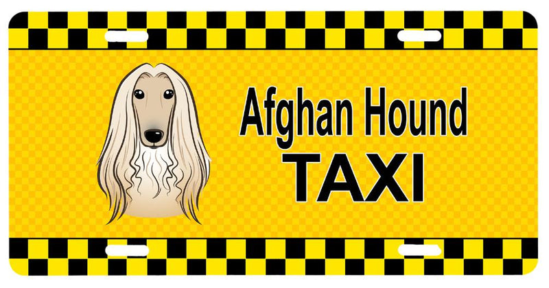 Buy this Afghan Hound Taxi License Plate BB1368LP
