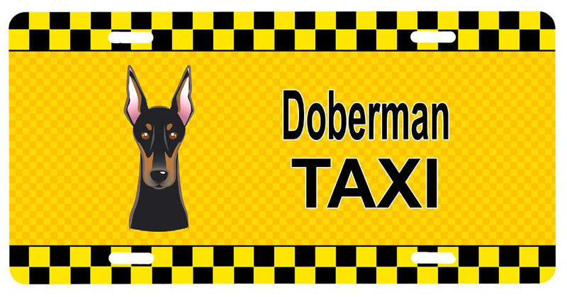 Buy this Doberman Taxi License Plate BB1369LP