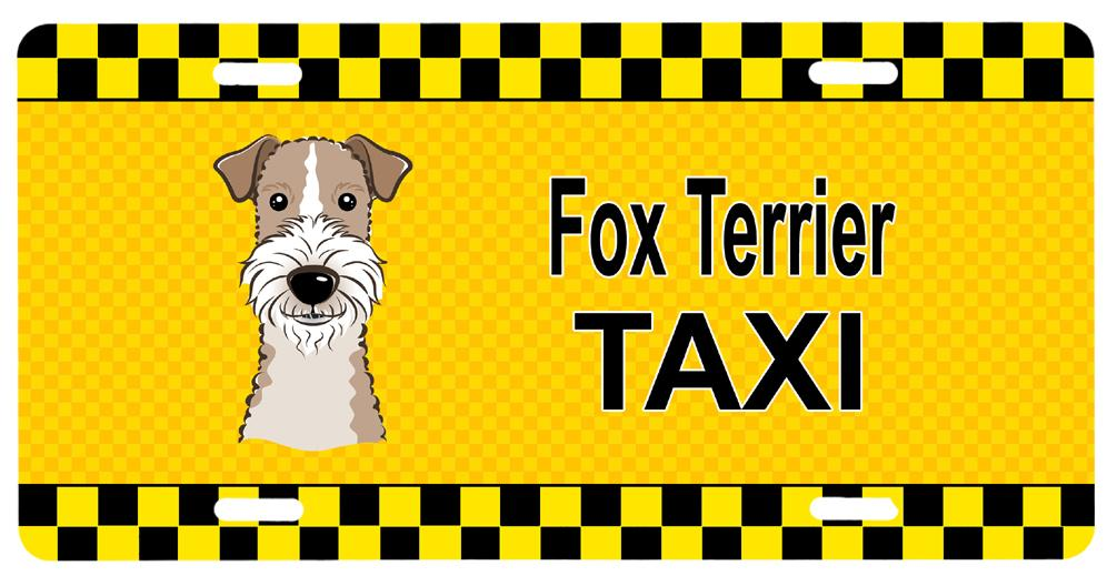Buy this Wire Haired Fox Terrier Taxi License Plate BB1371LP