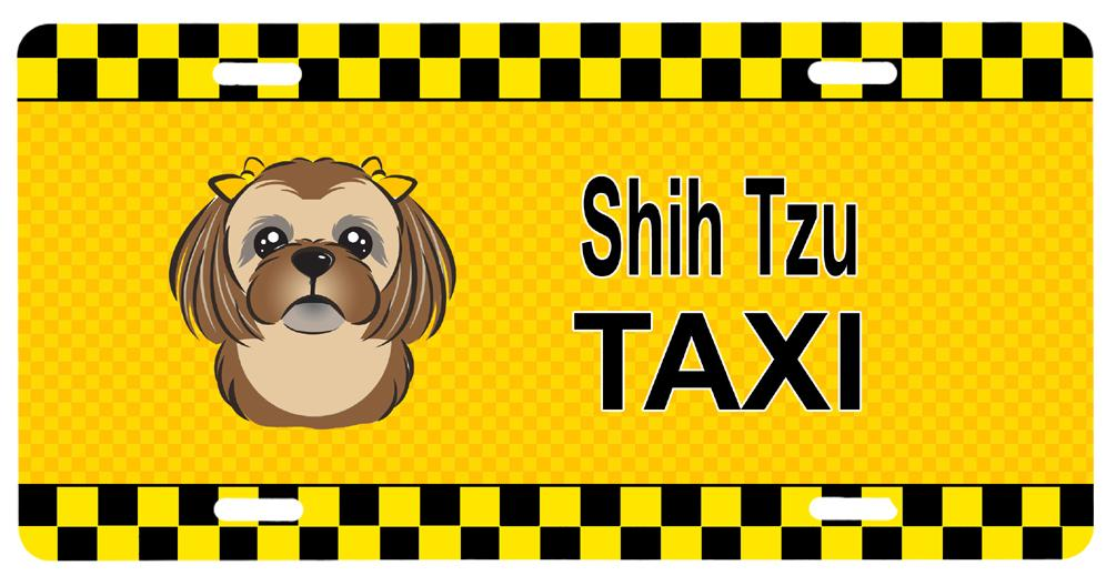 Buy this Chocolate Brown Shih Tzu Taxi License Plate BB1373LP