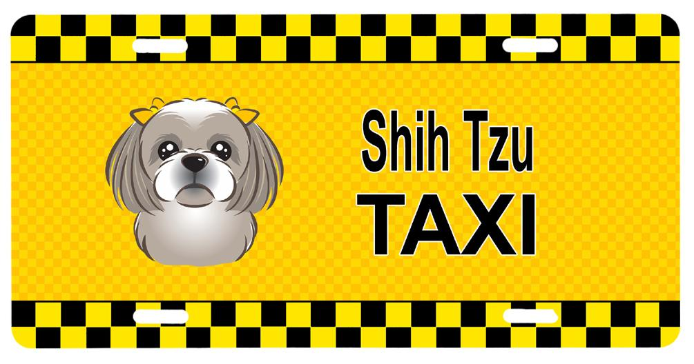Gray Silver Shih Tzu Taxi License Plate BB1374LP by Caroline's Treasures