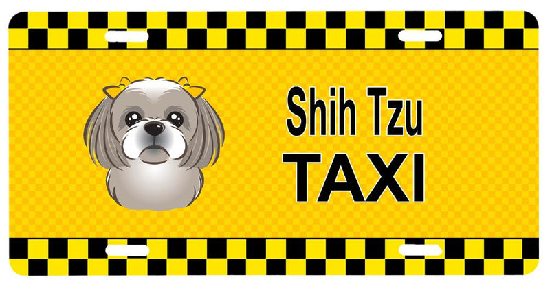 Buy this Gray Silver Shih Tzu Taxi License Plate BB1374LP