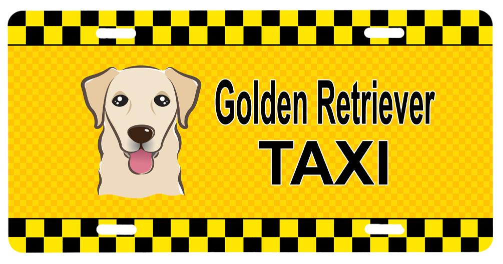 Golden Retriever Taxi License Plate BB1376LP by Caroline's Treasures