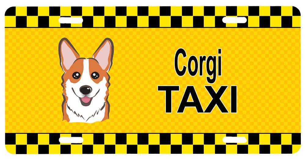 Corgi Taxi License Plate BB1378LP by Caroline's Treasures