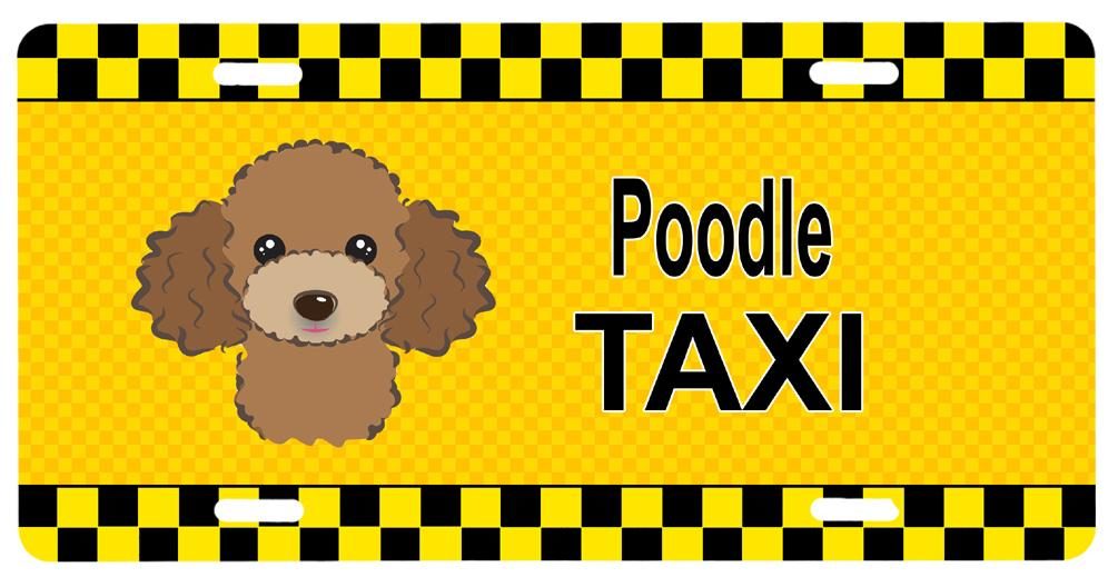Buy this Chocolate Brown Poodle Taxi License Plate BB1380LP