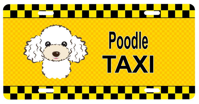 Buy this White Poodle Taxi License Plate BB1381LP
