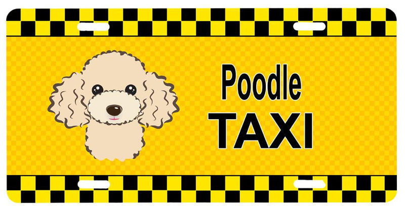 Buy this Buff Poodle Taxi License Plate BB1382LP
