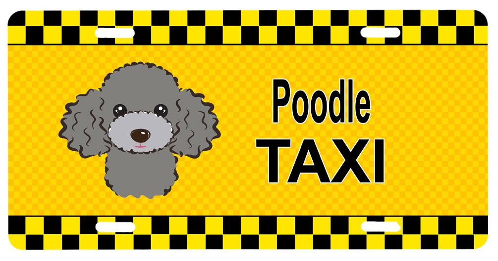 Buy this Silver Gray Poodle Taxi License Plate BB1383LP