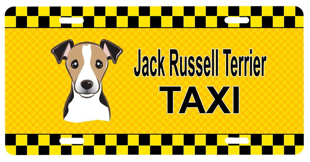 Jack Russell Terrier Taxi License Plate BB1385LP by Caroline's Treasures