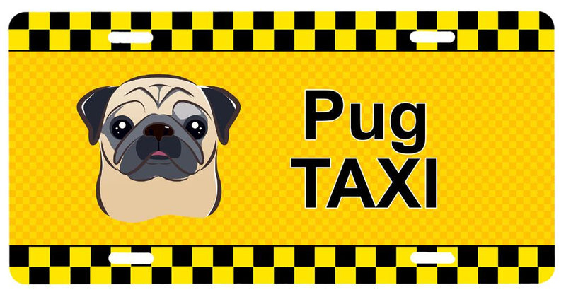 Buy this Fawn Pug Taxi License Plate BB1386LP