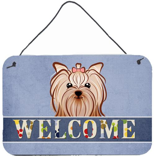 Buy this Yorkie Yorkishire Terrier Welcome Wall or Door Hanging Prints BB1390DS812