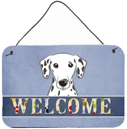 Dalmatian Welcome Wall or Door Hanging Prints BB1396DS812 by Caroline's Treasures
