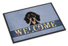 Smooth Black and Tan Dachshund Welcome Indoor or Outdoor Mat 18x27 BB1401MAT - the-store.com