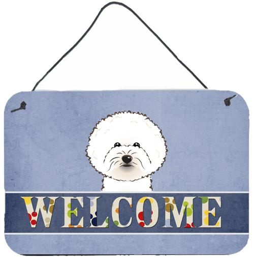 Buy this Bichon Frise Welcome Wall or Door Hanging Prints BB1403DS812