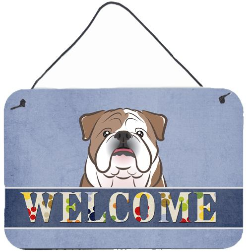 Buy this English Bulldog  Welcome Wall or Door Hanging Prints BB1405DS812