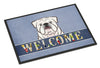 White English Bulldog  Welcome Indoor or Outdoor Mat 18x27 BB1406MAT by Caroline's Treasures
