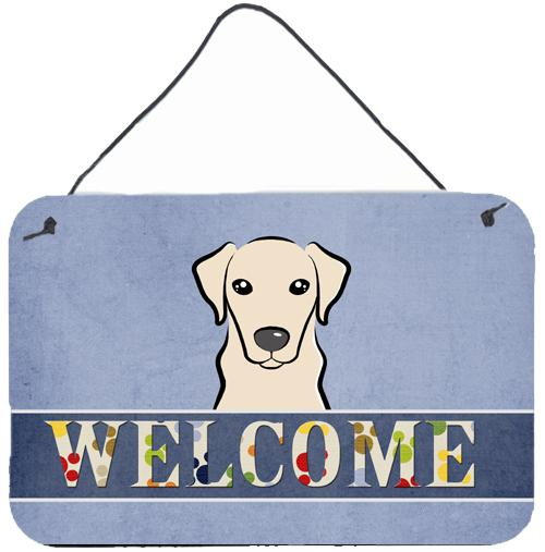Yellow Labrador Welcome Wall or Door Hanging Prints BB1408DS812 by Caroline's Treasures