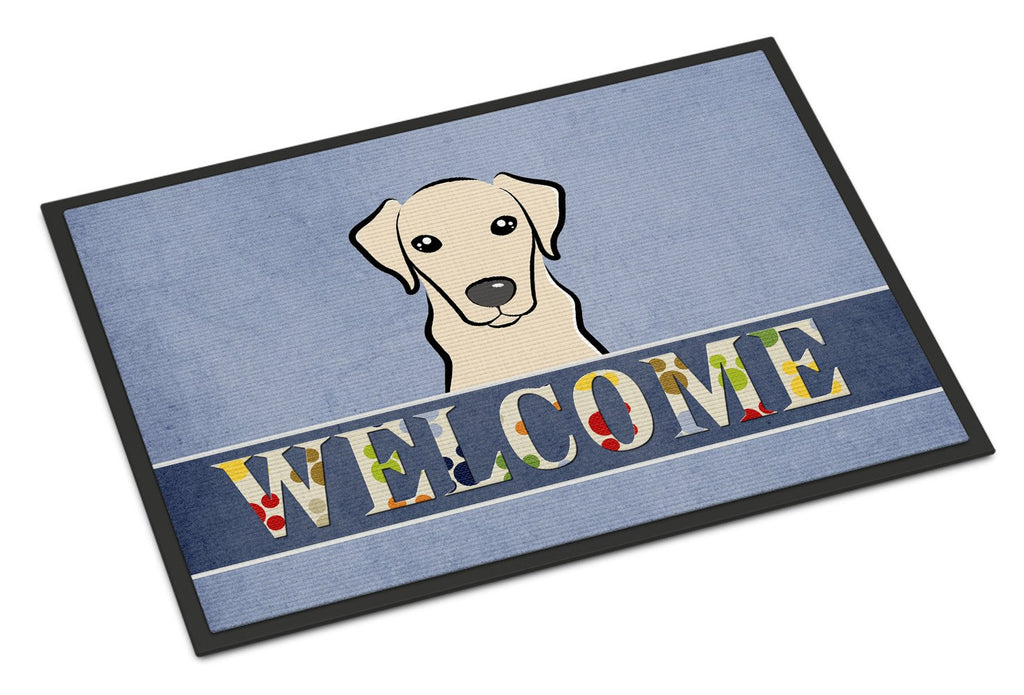 Buy this Yellow Labrador Welcome Indoor or Outdoor Mat 18x27 BB1408MAT